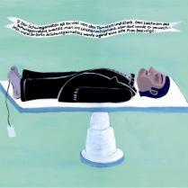 Illustrierte Kurzgeschichte von Daniil Charms. Inspirirert durch deutsche und mexikanische Votivmalerei.