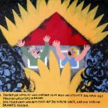 Daniil Charms: Buchillustrationen Akryl on Pappe