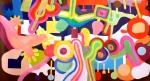 Garten. Freie Arbeit: Digitaldruck und Akrylmalerei auf Leinwand, 60x40cm