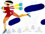 Freie Arbeit: Collage Disco I