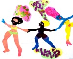 Freie Arbeit: Collage Disco III