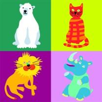 Gruppenbild mit Tieren Vierer